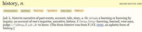 history - OED